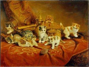kittens vóór de restauratie
