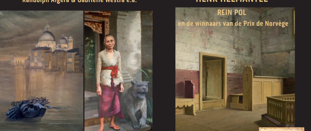 """brochure van expositie """"Rembrandt, op gepasste afstand' met Henk Helmantel, Rein Pol en de winnaars van de Prix de Norvège"""