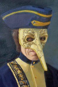 lange neus masker, detail van Herkenning II