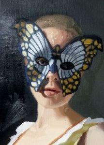 vlindermasker, detail van Herkenning I