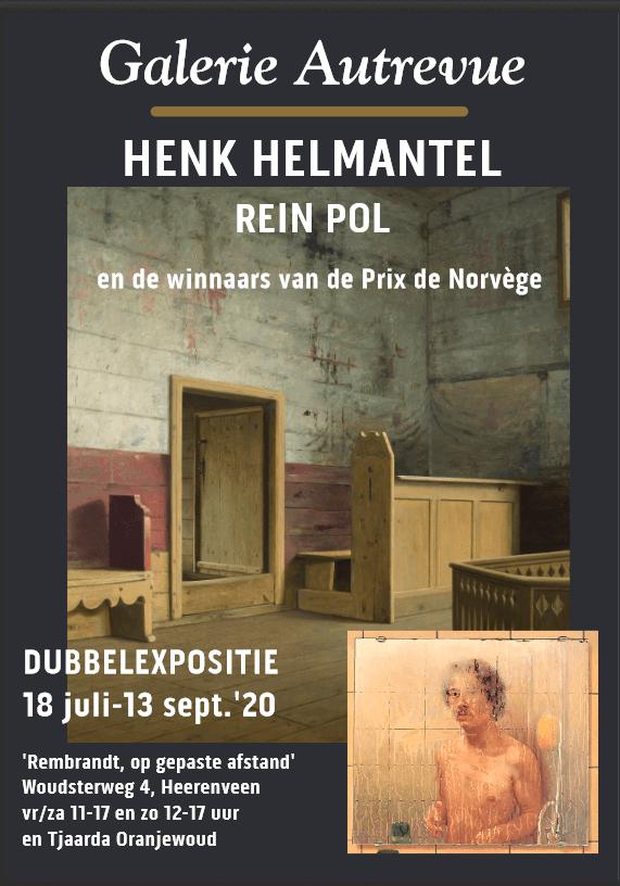 Rembrandt, op gepaste afstand - in Galerie Autrevue & Tjaarda Oranjewoud met Helmantel, Pol & de winnaars van de Prix de Norvège.