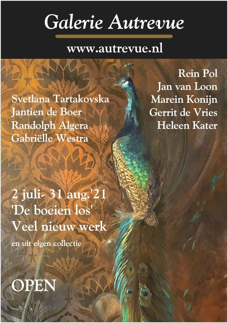 poster over de tentoonstelling van 2 juli tot 31 augustus 2021