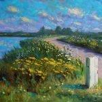 Jannes Koetsier Woudsterweg oil on panel 50 x 70